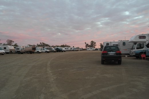 One very crowded camp site Longreach.
