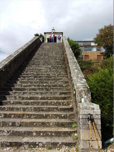 More steps into town.