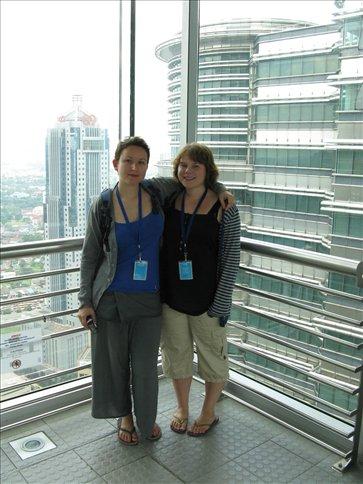 Us on the skybridge Petronas towers