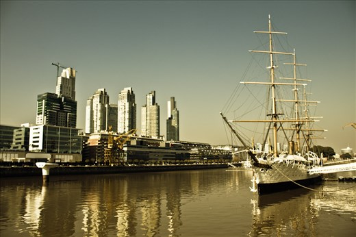 Puerto Madero, Buenos Aires. Has some really good steak restaurants.