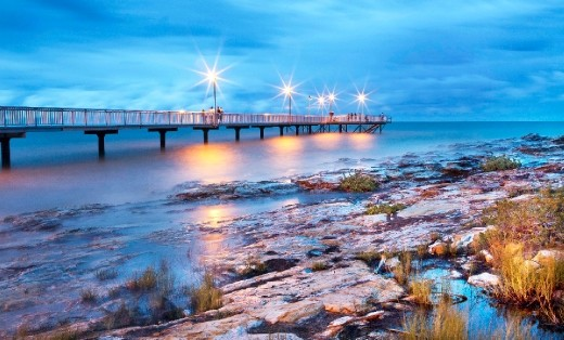Darwin's Nightcliff jetty is the attraction for all the locals, every day of the year . It is the jetty that the people flock to, the place they bring their chairs and tables to, all to enjoy the views, the tropical feel, to eat their fish and chips or to watch the spectacular lightning storms that brighten up the skies during the Build up and wet season.  Just walking past the jetty around sunset, makes you feel like you really get the feel of what Darwin and its people are all about!