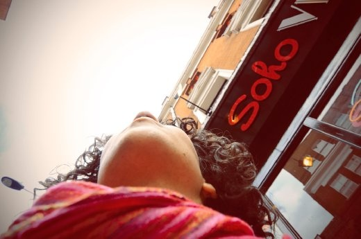 It is a self portrait in Soho in London as one of the tourist attractions.