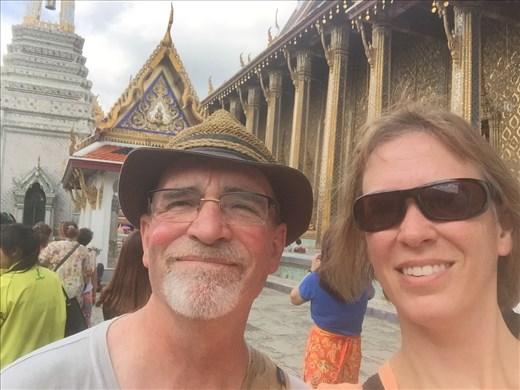 Aaron and Dina at Wat Po