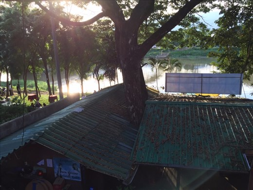 View of the Ping River from our guesthouse balcony