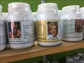 At the Thai herbal medicine shop, found a bottle of herbs with a picture of Betty White. Wonder what they're for!: by dinagosse, Views[234]