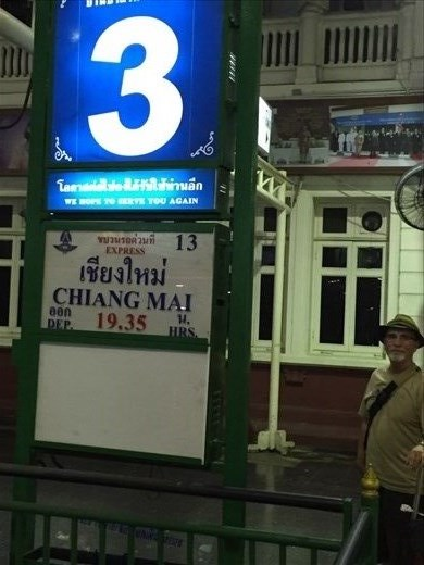 Bangkok train station. Heading to Chiang Mai!
