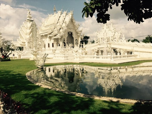 The White Temple, in Chiang Rai. Built unusually, all in white, to represent purity.