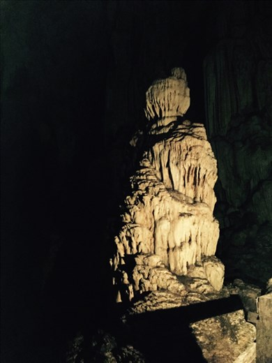 The Buddha cave formation at Tham Lod cave