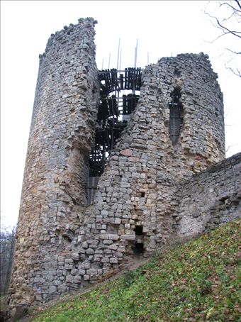 A crumbling tower