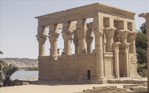 Trajan's Kiosk, a part of the temple complex on an island of Philae, near Aswan,
