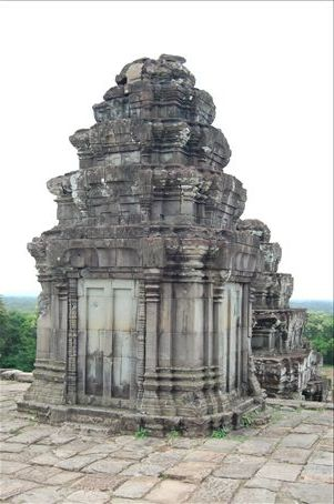 There are lots of ancient buildings in Cambodia.