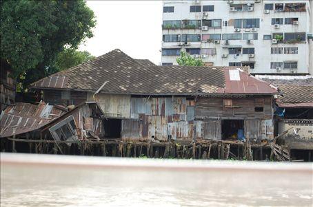River front property in Bangkok.