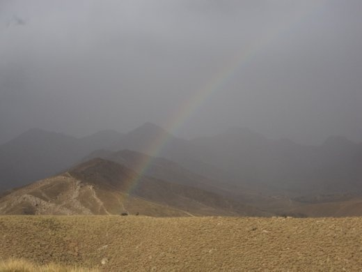 A scene of beauty in Galuch Valley, after a hail storm that lasted nearly two days.