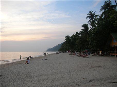 Koh Chang island, the beach near my hotel