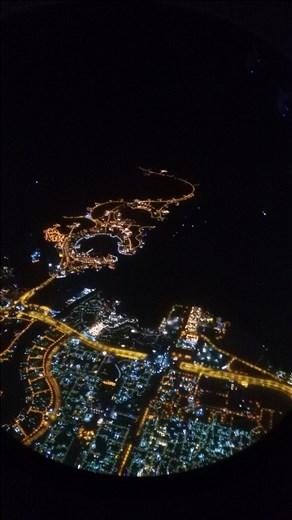 Dann konnte ich mir auch schon Qatar bei Nacht ansehen!