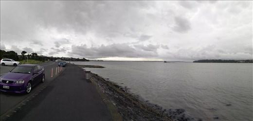 Panorama vom Meer und personifiziertes Nummernschild