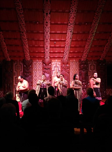 Maori Showtanz in Waitangi!