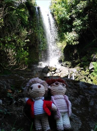 Die Omas am Vivian Wasserfall!