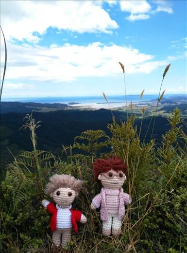 Die Omas erklommen Castle Rock! Coromandel Region