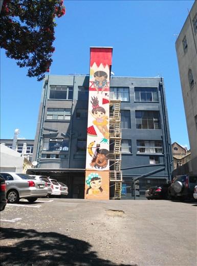 Streetart in Auckland, generell ist Neuseeland sehr