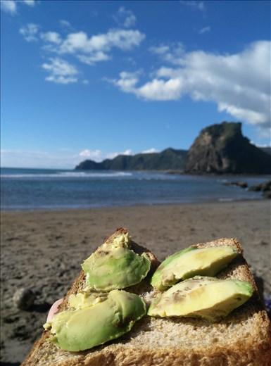 Piha Beach, nördlich von Auckland.