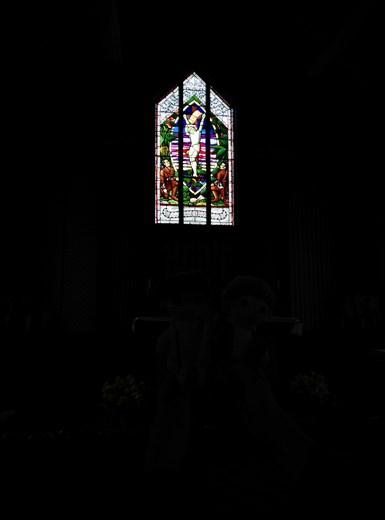 Schönes Kirchenfenster, in Tikitiki