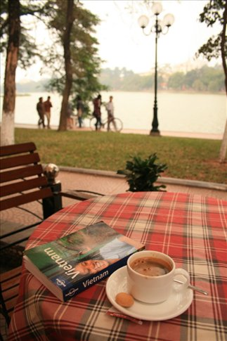Coffee at Hapro along Hoan Kiem Lake.
