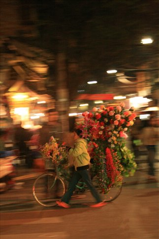 Another flower hawker.