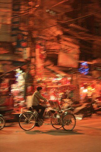 Cyclo searching for customers.