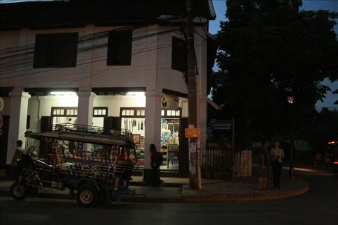 Tuktuk parked along Th Sisavangvong.