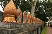 Designs along the fences of Wat Nong Sikhunmeung.: by dondealban, Views[267]