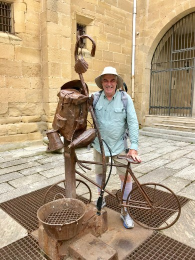 Pilgrim bicycle statue JGH