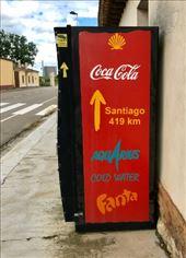 Coke machine w Camino mileage Villalcazar de Sirga: by donna_jeff, Views[43]