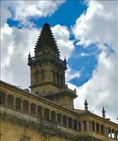 cathedral tower w blue sky Santiago: by donna_jeff, Views[57]