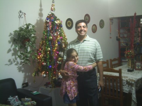 Walter and Lisette on xmas eve