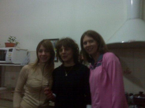 Doreen with Gaby and Belen.  They take English classes with Gloria.