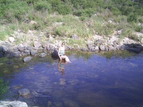 I went swimming in the river to cool off.