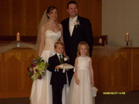 My Brother, Aaron, and his new wife, Heather, at their wedding in Minnesota.
