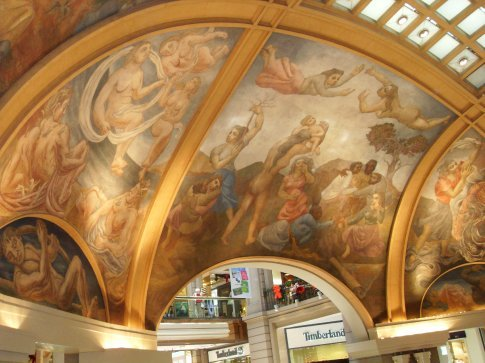 A very old and beautiful mural on the ceiling