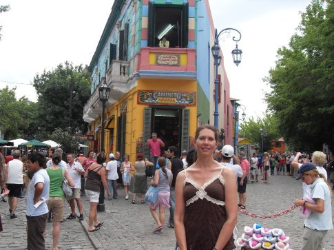 La Boca, the oldest neighborhood in BA now made into a colorful street for tourists to visit.