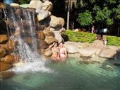 Doreen and Eugenia in the swimming pool with the cascade. I loved it!: by doreen-b, Views[300]