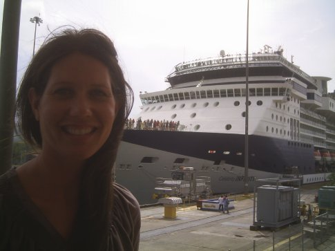 Doreen at Panama Canal on May 1, it was Labor Day in Latin America