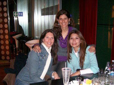 Doreen, Mary, and Erica (one of my students)