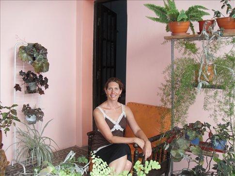 Doreen in small hotel in Capilla del Monte
