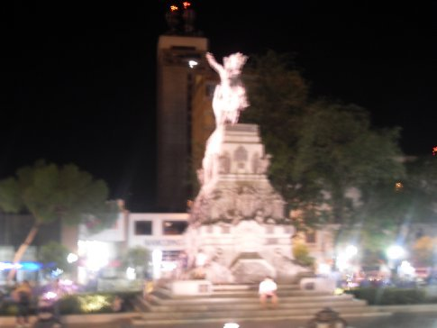 The San Martin Statue in the renoved Plaza. The best time to go is at night, I love all the lights!