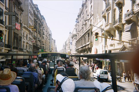 View from the top of our tour bus in Buenos Aires