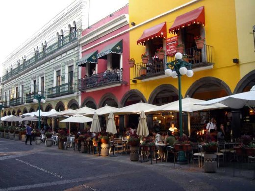 Cafes located around the downtown plaza area