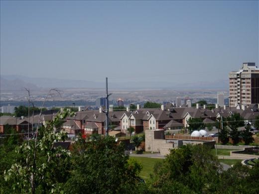 Salt Lake City, Utah from Red Butte Botanic Gardens