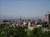 view of Salt Lake City Utah from Red Butte Botanic Gardens