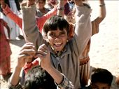 In the barren desert of Rajasthan out of the dust like a mirage emerges a gaggle of bare footed children with wide smiles and glittering eyes...: by doyouseewhatisee, Views[187]